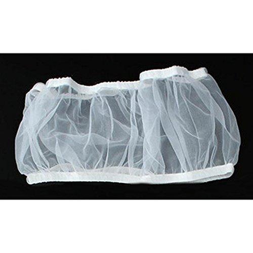 MOOUK Seed Catcher Cage à Oiseaux Jupe Maille de Nylon de graines de Catcher Guard Net Coque Circulation de l'air Cage à Oiseaux Jupe 7/8/33 cm Taille pour Votre Choix M Blanc