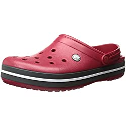 Crocs Crocband U, Zuecos Unisex Adulto, Rojo (Pepper), 45-46 EU