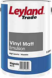 Leyland Trade Vinyl Matt Emulsion 5L Magnolia