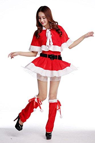 MNII Frauen Fräulein Santa Santa Kostüme traditionelle dumme Herren Damen Fancy Dress Outfits Full Range verfügbar , red , m- Urlaub (Herren Sexy Fancy Dress)