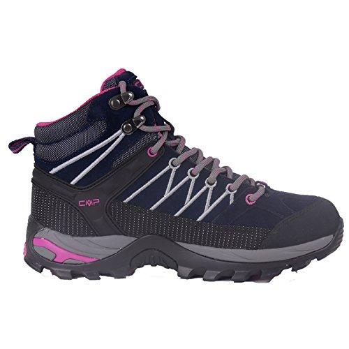 Outdoor Wander-Trekkingschuh für Damen von CMP, wasserdicht & rutschfest in vielen Farben erhältlich. Von Pignolo-su, der Stiefel für Draußen. Sondermodell Ragel Black-Blue
