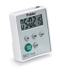 Polder TMR-2125 Buzz and Beep Digital Timer, White