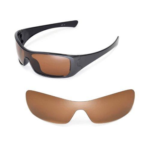Walleva Ersatzgläser für Oakley Antix Sonnenbrille - Mehrfache Optionen (Braun - polarisiert)