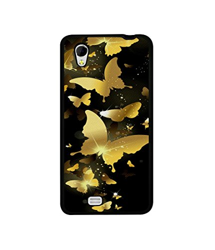 Casotec Golden Butterfly Pattern Design Canvas Printed Soft TPU Back Case Cover for Gionee Ctrl V4s  available at amazon for Rs.349