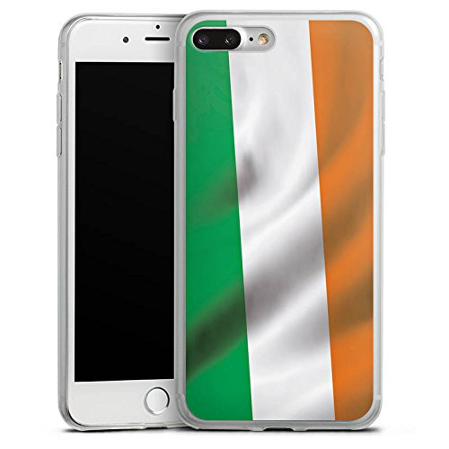 Apple iPhone X Slim Case Silikon Hülle Schutzhülle Irland Flagge Fahne Silikon Slim Case transparent