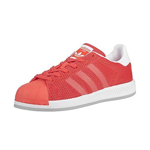 adidas adidas - Superstar Bounce J - BB0332 - Farbe: Weiß-Orangefarbig - Größe: 39 1/3 EU