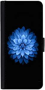 Snoogg Blue Lotus Designer Protective Phone Flip Case Cover For Coolpad Note 3 Lite