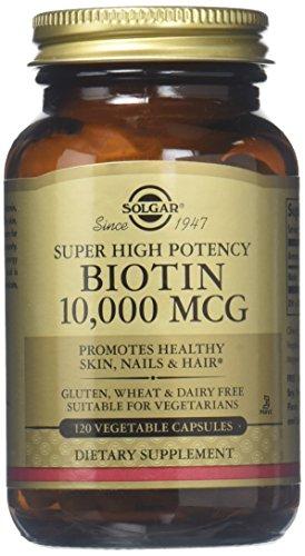Biotina, de muy alta potencia, 10.000 mcg, 120 Caps Veggie - Solgar