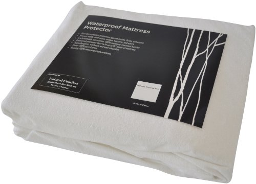 Microfleece Wasserdichte Matratze Pad protector-terry top-15-inch-17-inch Tief Tasche, Queen (Queen-matratze-tasche)