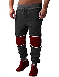 CHIC-CHIC Pantalons Hommes Longue Sport Pants Drop-crotch Simple Elastique Jogging Fitness Hiphop Baggy Loose Casual