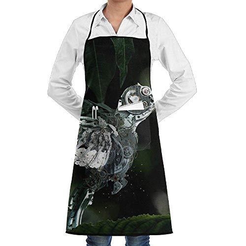 Sangeigt grembiule da cucina, bib apron with pockets mechanics hummingbird durable cooking kitchen aprons