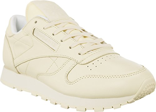 Reebok Cl Lthr Pastels, Sneakers Femme Jaune (Washed Yellow/white)