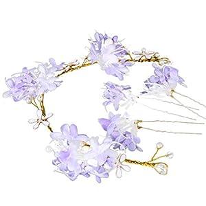 Windy5 Blumen Hairpin-Stock-Hochzeit Frauen-Brautblumen Hairpin U Shaped Haarspange Haarband Kopfbedeckung Set Zubehör
