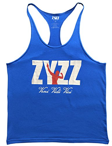 Musclealive Herren Bodybuilding Zyzz Mode Tank Tops Baumwolle 01 Black+01 Blue