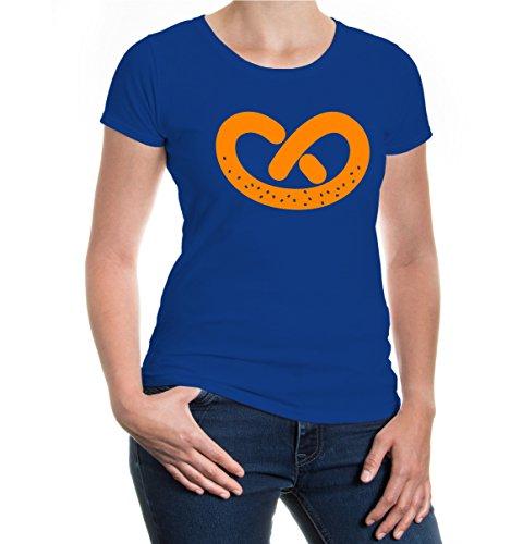 buXsbaum® Girlie T-Shirt Brezl Royal-Neonorange