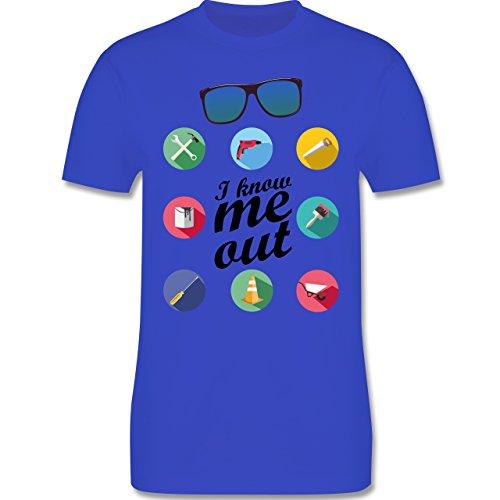 Handwerk - I know me out Handwerker - Herren Premium T-Shirt Royalblau