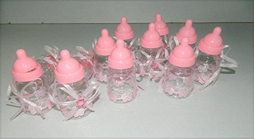 10 x boite porte dragées biberon rose bapteme fille cadeaux Baptême