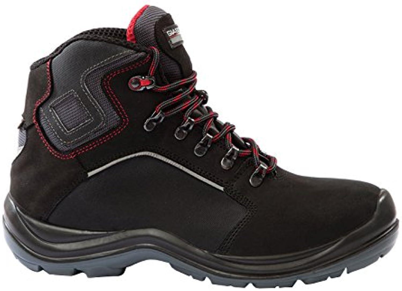 Giasco hr169nr44 Santorini S3 alta zapatos, tamaño 44, color negro/rojo