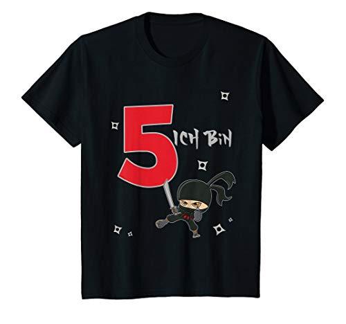 Kinder T-Shirt Geburtstag 5 Jahre Ninja Junge Ich bin 5