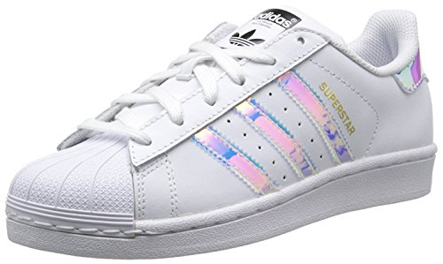 Adidas Superstar CF I, Zapatillas de Gimnasia Unisex Bebé, Blanco (FTWR White/FTWR White/Metallic Silver-SLD), 27 EU