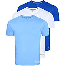 AWG Men's Dryfit Polyester Round Neck Half Sleeve T-Shirts - Pack of 3