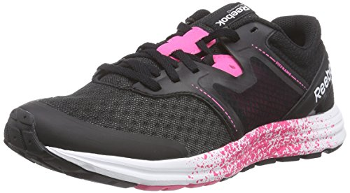 Reebok - Exhilarun, Sneakers da donna, nero (black/solar pink/shark/white), 39