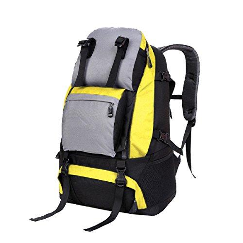 Sacchetto Di Alpinismo Xin.S40L Borsa A Tracolla Esterna Viaggio Alpinismo Zaino Sportivo Trekking Zaino Multifunzionale. Multicolore Yellow