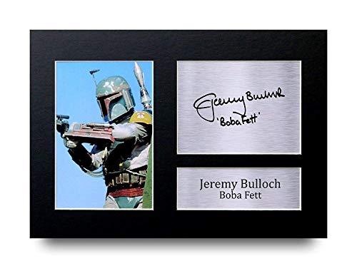 ulloch Geschenke Unterzeichneten A4 Gedrucktes Autogramm Star Wars Boba Fett Druck-Foto-Bilderanzeige ()