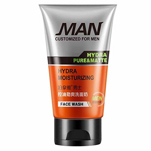 Männer Gesichtsreiniger Cool Control Öl Feuchtigkeitsspendende Wasser Creme Blackhead Gesichtsreiniger für Herren (B) Lavendel-männer Socken