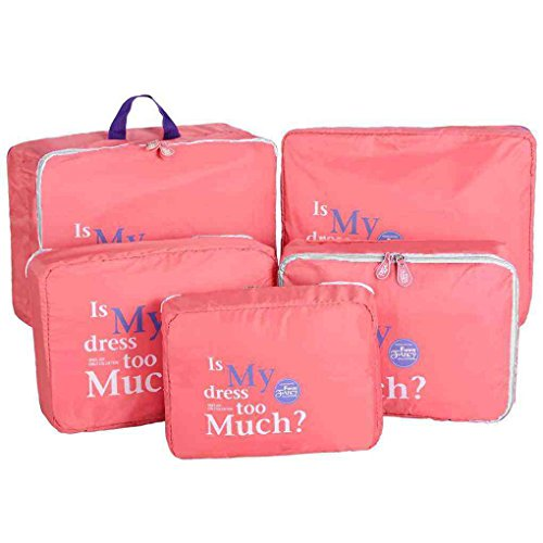MUANI 5pcs impermeables ropa bolsa de almacenamiento de embalaje de vi