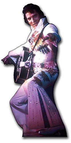 Star Cutouts Pappaufsteller von Elvis in Jump Suit (weiß)