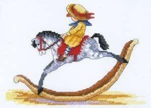 Cavalluccio A Dondolo A Punto Croce.Cavallo A Dondolo Kit Per Punto Croce Amazon It Casa E Cucina