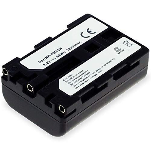 subtel® Qualitäts Akku kompatibel mit Sony DSC-F707, F717, F828, DSC-R1, DSLR-A100, DSC-S30, S50, S70, S75, MVC-CD250, Cyber-Shot (1600mAh) NP-FM55H,NP-FM50,NP-QM51 Ersatzakku Batterie