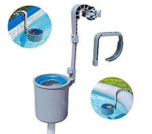 58233 skimmer pulizia superficie piscina fuori terra bestway con gancio e tubo mws - Pulizia piscina fuori terra ...