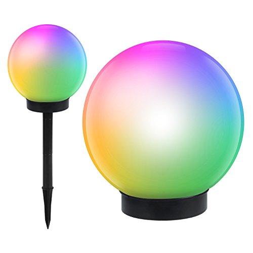 GreenBlue GB122 lampe solaire jardin pose libre - globe 15x48 cm LED couleur (GB122)