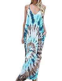 Yesmile Vestido de Mujer Falda Blanco Ropa Vestido Elegante de Noche para Boda Fista Vestido de Fiesta Largo Estampado…