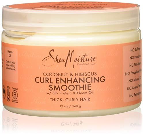 Shea Moisture, Maschera per capelli ricci con proteine della seta e olio di nim, profumo: Cocco e Ibisco