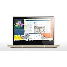 """Lenovo Yoga 520-14IKB - Portátil convertible de 14"""" HD (Intel Core i3-7100U, RAM de 8 GB DDR4, HDD de 1 TB, Intel HD Graphics 620, Windows 10 Home 64 bit) dorado metal - teclado QWERTY Español"""