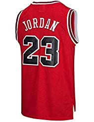 newest 62ebb 08e7e VICTOREM Mens NBA Michael Jordan  23 Chicago Bulls Basketball Jersey Retro  Gym Vest Sports Top