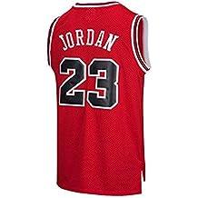 VICTOREM NBA Michael Jordan #23 Camiseta de Baloncesto para Hombres Chicago Bulls Retro Chaleco de