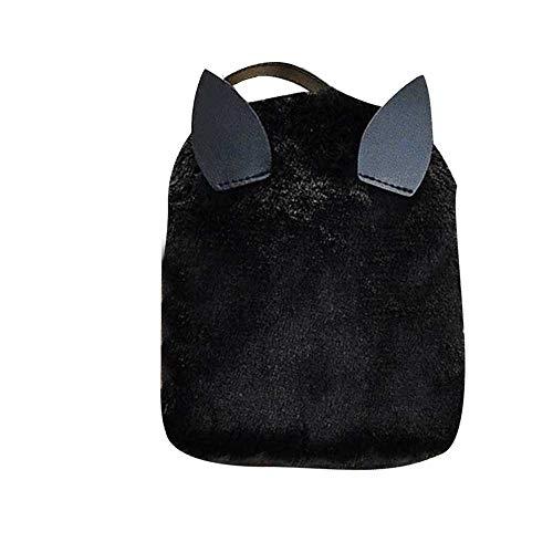 Hniunew Paket 2 In1 Handtasche UmhäNgetasche Tragbar Shopper Fitnessruck Haariger Rucksack Cute Taschesack Mini-Tasche Reisetasche Dayspacks Backpack Schultasche Damentasche Portmonee GeldböRse