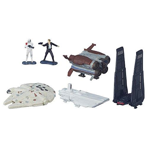 Star Wars Micromachines Space Verfolgungsjagd Spielset Gold Serie Hasbo B6599 2 Figuren, Fahrzeuge und Raumschiffe