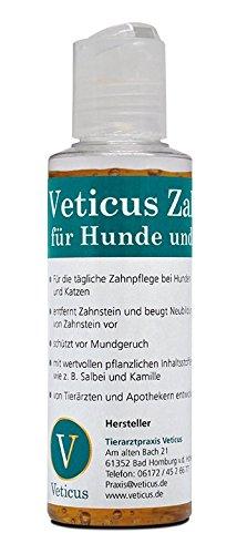 Veticus Zahnpflegegel - Zahnpasta für Hunde und Katzen - 120g mit Zahnbürste