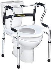 Fastwell Multipurpose Walker 1) walker 2) commode chair 3) Toilet seat raiser 4) bath bench 5) toilet safety frame