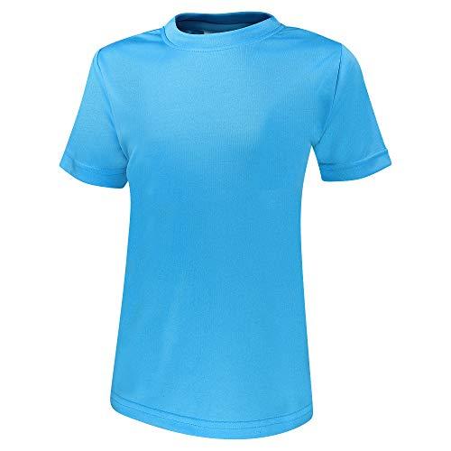 Alps to Ocean Sports Kinder Sportshirt Funktions T-Shirt Teamsport (schnelltrocknend, atmungsaktiv), Größe:140, Farbe:Blue