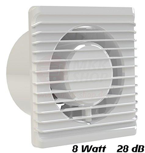 Baño Ventilador 125mm de diámetro en blanco MKK Planet Ventilador Ventilador Frontal...