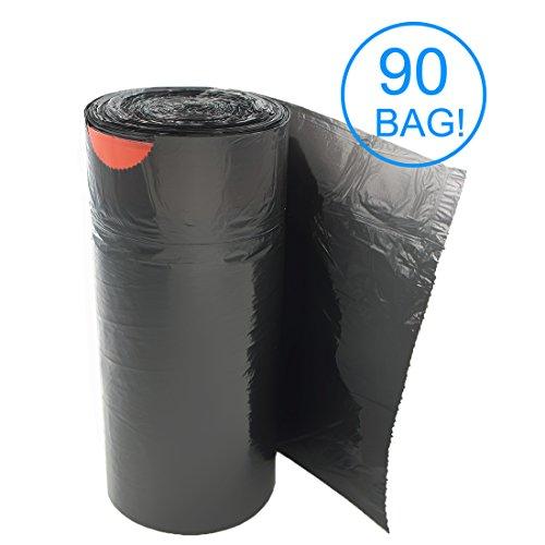 AckMond 18L (100 Pezzi) Sacchetti della spazzatura con Maniglie Autochiudenti, Sacco spazzatura, Sacchi per rifiuti, Sacchi Nettezza, sacchetti di immondizia, nero