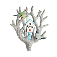 NBE Wall AMER ICCR Federal Coat Hooks Hooks, reception wall decoration resin animal retro clothes hooks (white color)