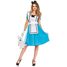 Leg Avenue Alicia en el país de las maravillas azul de las mujeres del traje / blanco Tamaño M