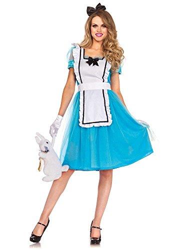 Leg Avenue 85374 - Klassische Alice Damen kostüm , Größe Medium (EUR (Kostüm Wunderland Kaninchen Im Alice)